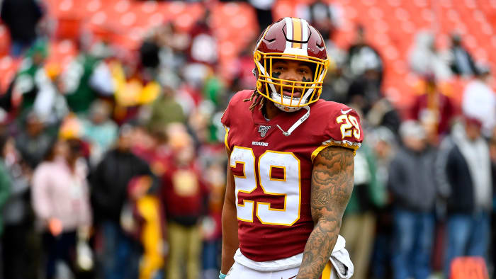 Guice, who averaged 5.8 yards on 42 carries, was unclaimed on waivers after Washington released him following his domestic violence arrest.