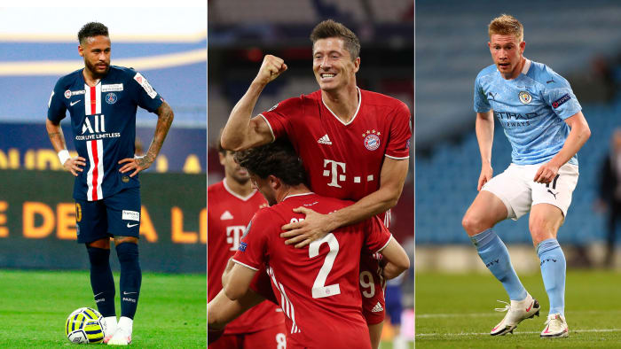 PSG, Bayern Munich and Man City are all vying for the Champions League trophy