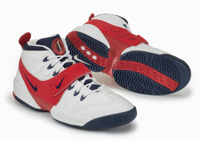 White, red, and blue Air Swoopes