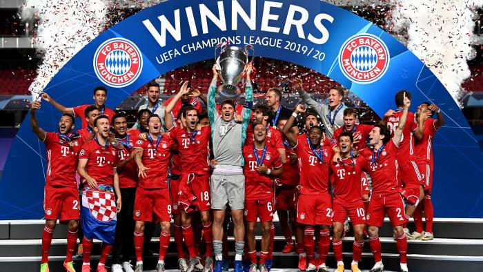 Bayern Munich wins the Champions League title