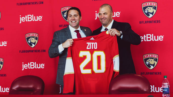 CEO Matt Caldwell (left) and new GM Bill Zito/photo courtesy Florida Panthers.