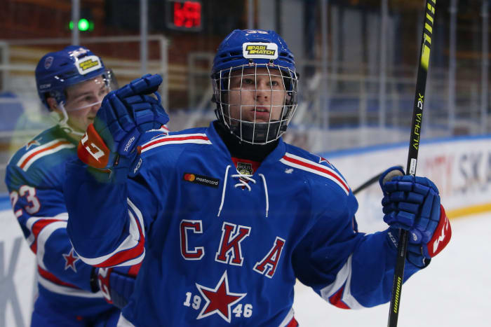 Matvei Michkov. Photo courtesy SKA Ice Hockey Club.