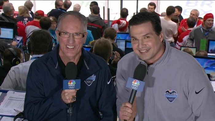 Doc Emrick (left) and Eddie Olczyk/NBC Sports