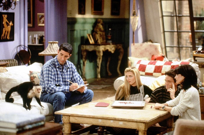 Ubiquity? Ross's monkey swallowed one of the famous tiles in a 1995 episode of Friends.