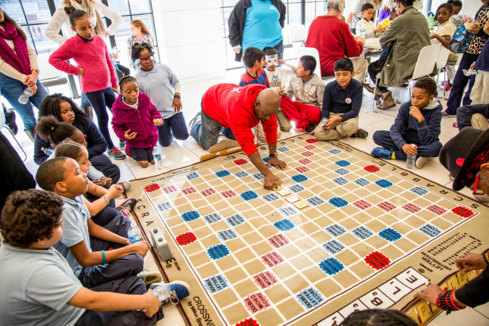 At ASAP Scrabble, an afterschool program in Philly, kids dabble in wordplay using the classic Hasbro grid.