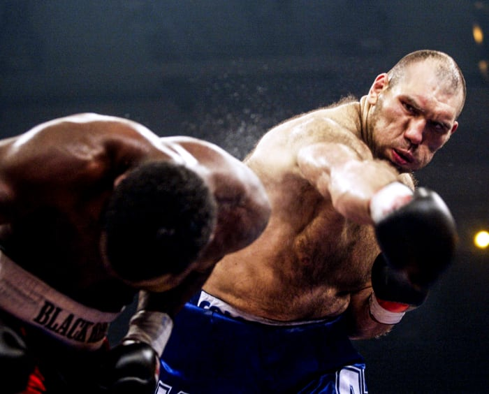 In May 2005, three months before his second robbery, Etienne took a beating from the Russian giant Nikolai Valuev.