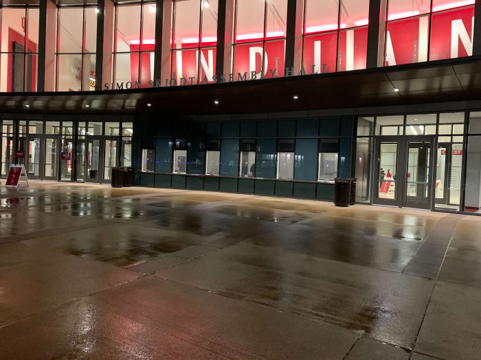 No lines at the will call windows at Assembly Hall.