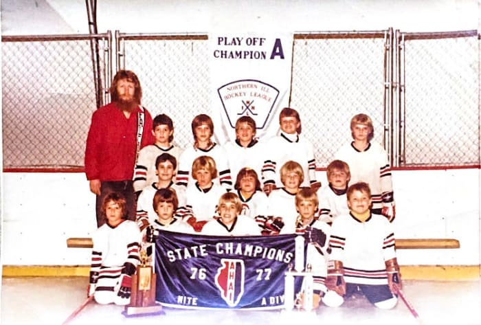 """The author's own youth team, in Deerfield, Ill. Cohen is pictured at bottom left, sulking, he says, """"because they put me in the spot traditionally reserved for the shortest kid."""""""