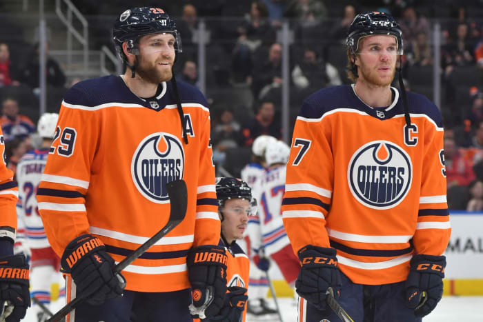 Leon Draisaitl and Connor McDavid.