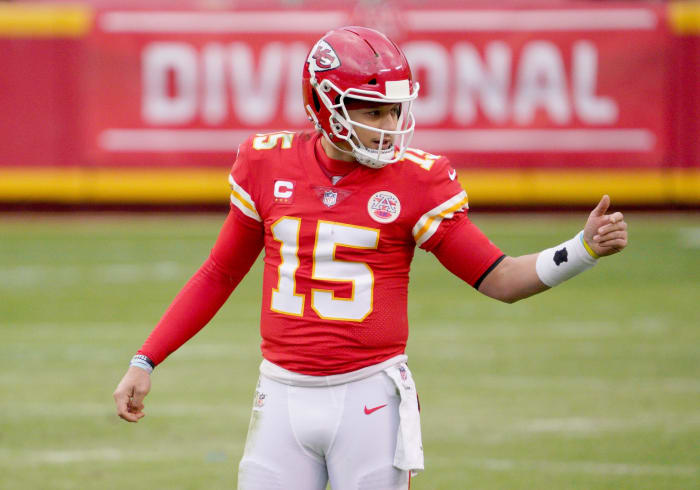 Kansas City Chiefs quarterback Patrick Mahomes is back in the AFC Championship Game against the Buffalo Bills on Sunday.