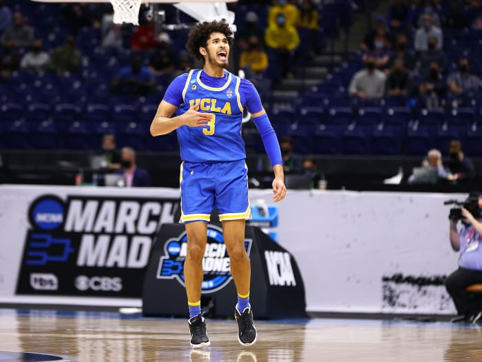 Johnny Juzang of UCLA during the Bruins game against Michigan