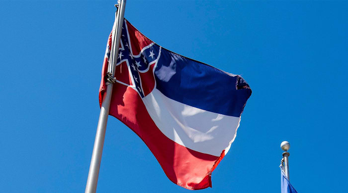 The Mississippi flag, which incorporates the confederate flag