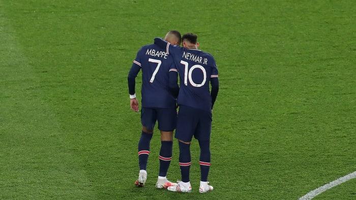 PSG stars Neymar and Kylian Mbappé