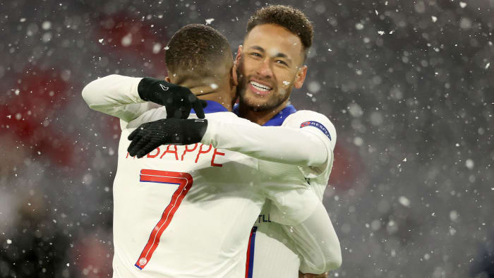 Neymar and Kylian Mbappé help PSG to the semifinals of the Champions League