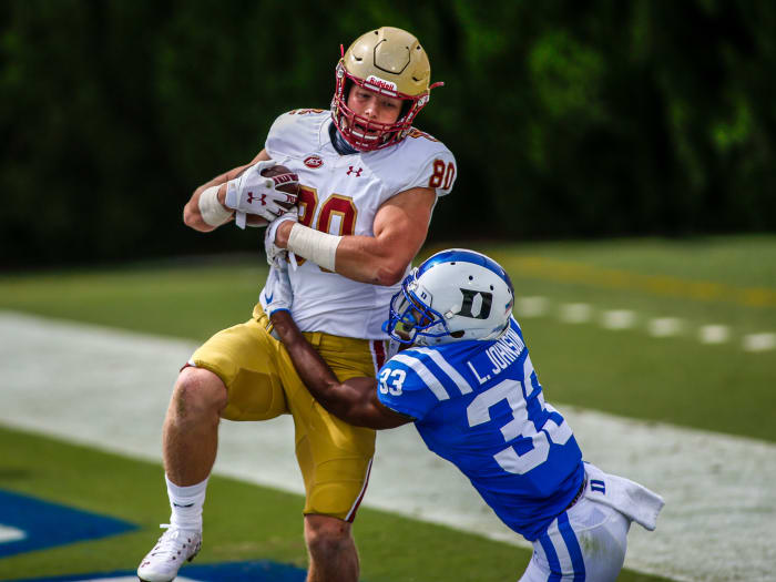 Tight end Hunter Long at Boston College
