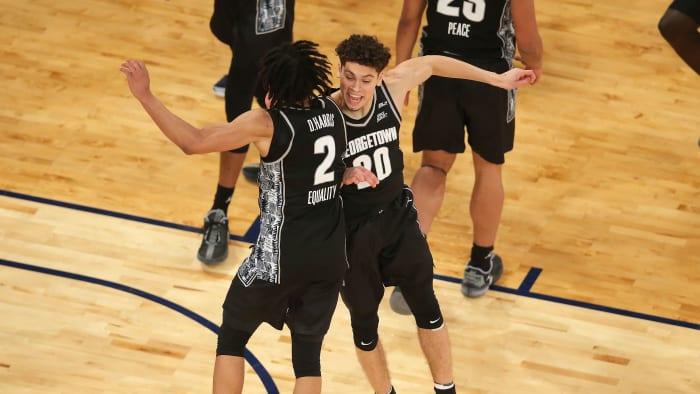 Georgetown celebrates its Big East tournament title