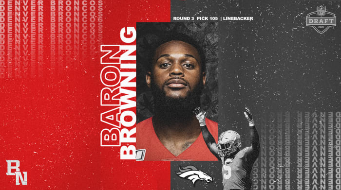 Baron Browning NFL Draft Card