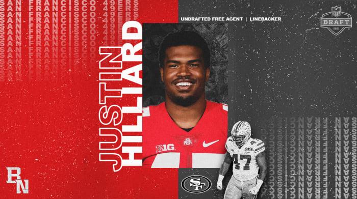 Justin Hilliard NFL Draft Card
