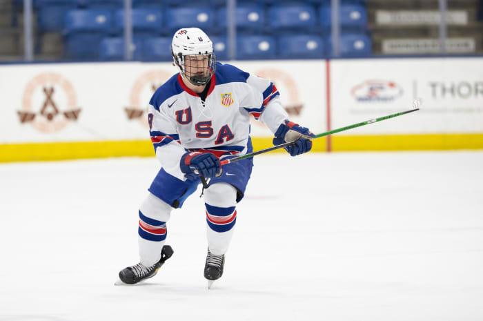 Justin Janicke. Photo courtesy Rena Laverty/USA Hockey's NTDP.