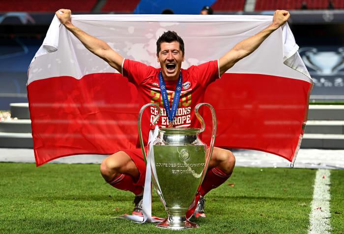 Poland's Robert Lewandowski won the UEFA Champions League with Bayern Munich