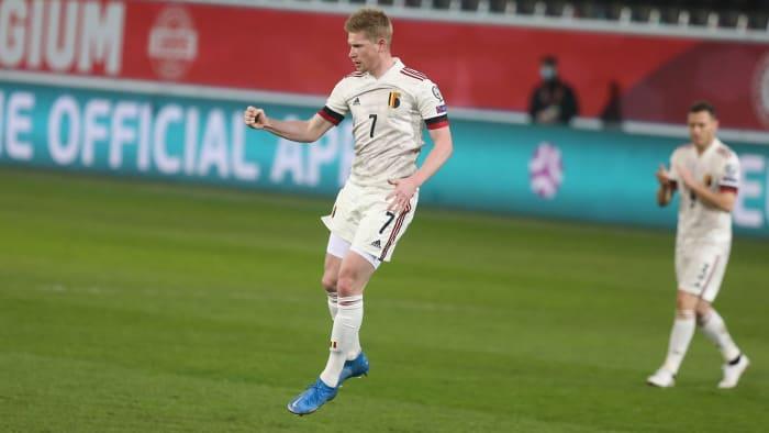 Kevin De Bruyne leads Belgium into the Euros