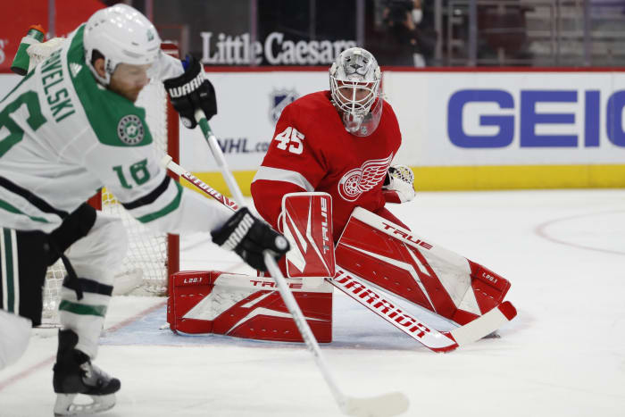 Jonathan Bernier. Photo by Raj Mehta-USA TODAY Sports.