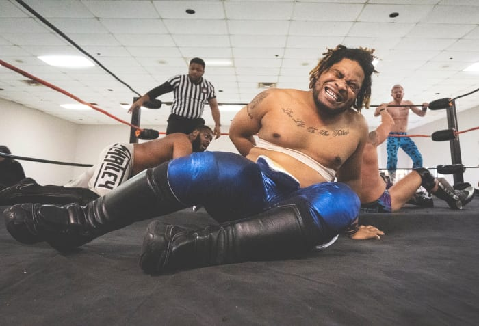 Brandon Whatley and Luke Stone, partners in a tag-team match.