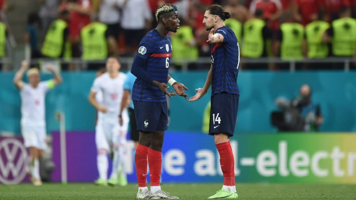 Paul Pogba from France and Adrien Rabiot