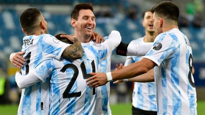 La estrella argentina Lionel Messi