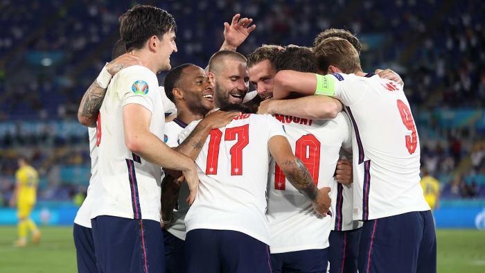 England beat Ukraine in the quarterfinals of Euro 2020