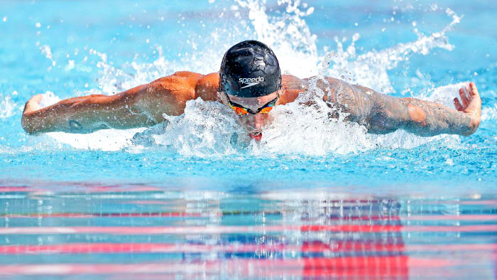 Dressel topped Phelps's decade-old record in the 100-meter butterfly, an event he won at the TYR Pro Swim Series in April.