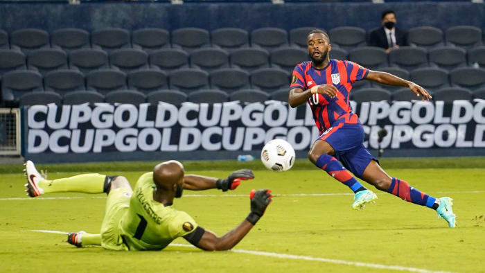 USMNT right back Shaq Moore at the Gold Cup