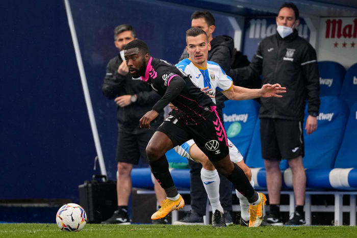Shaq Moore playing for Tenerife in Spain's second division