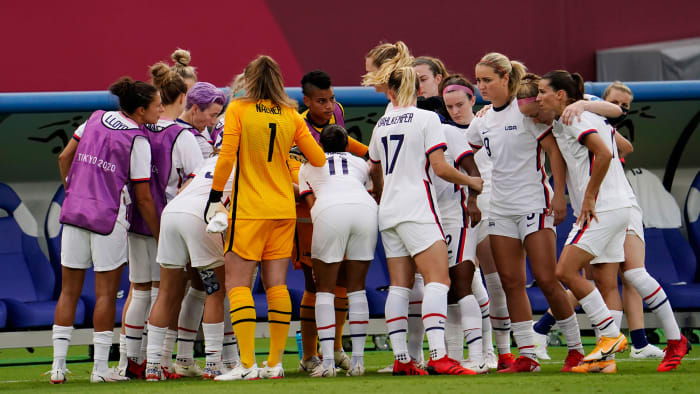 The USWNT takes on Australia in the Olympics