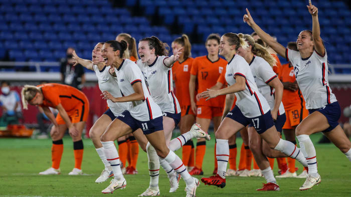 USWNT beats the Netherlands in the Olympics
