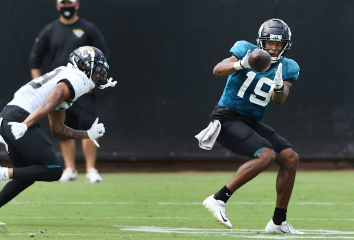 What sort of place can Johnson carve out in the receiver unit?[Bob Self/Florida Times-Union]