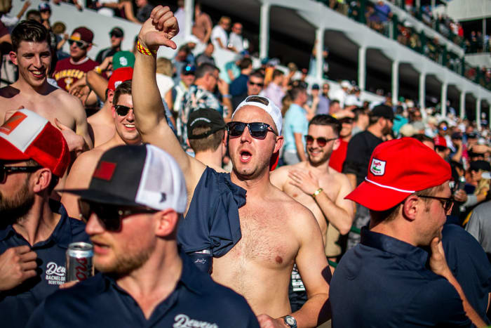 A bachelor party was one of the things happening in the stands on the 16th hole at TPC Scottsdale in 2020.