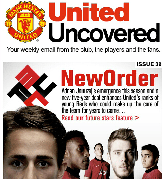 Manchester United Newsletter Sports Fascist Look With