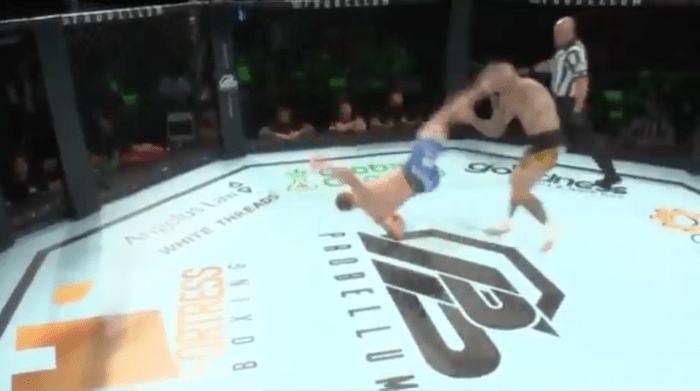 MMA Fight Ends With Insane 'Rolling Thunder' Knockout