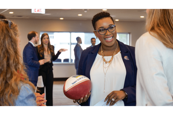 LaKendria Robinson is the director of the Super Bowl LV Host Committee's Business Connect program.