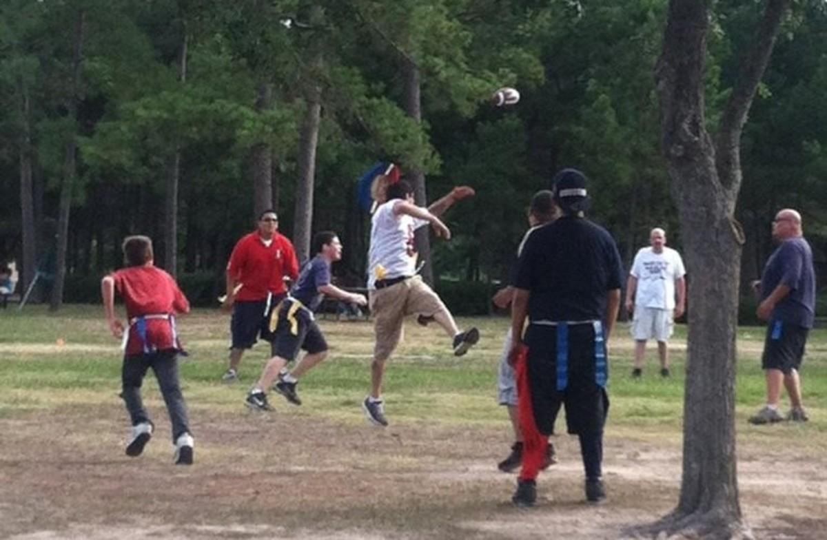Texans Fam Playing Ball
