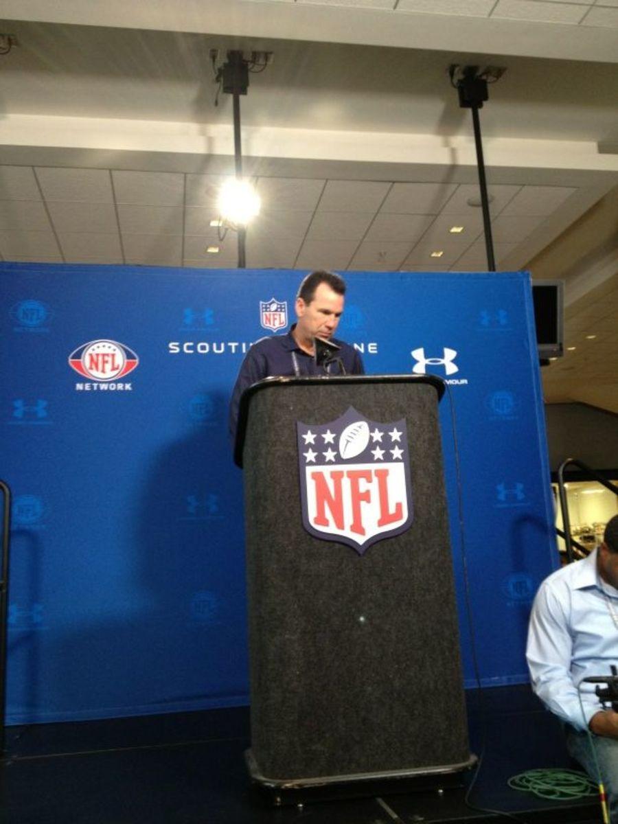 Gray Kubiak at the NFL Combine