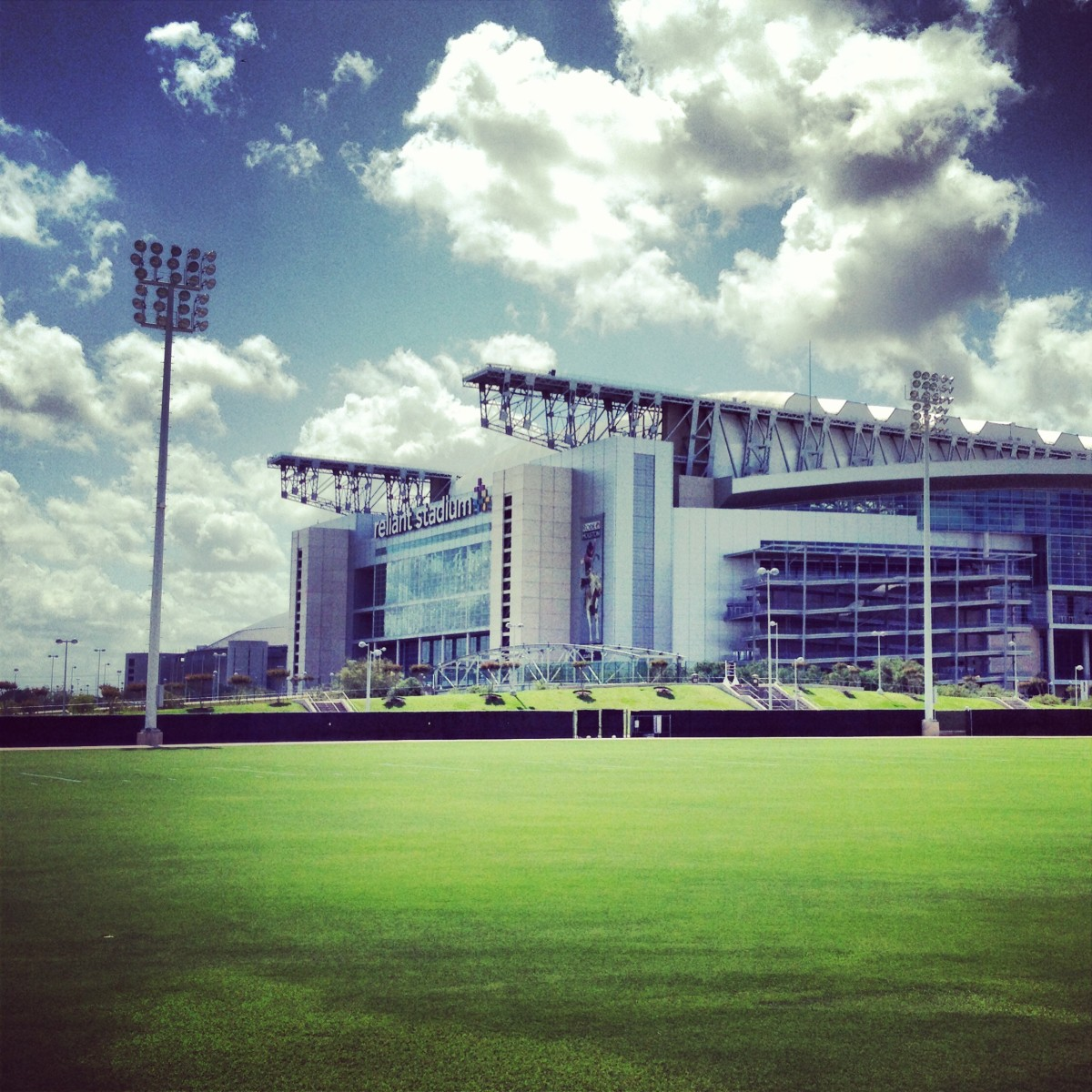 Texans practice facility on a nice breezy day today at OTAs.
