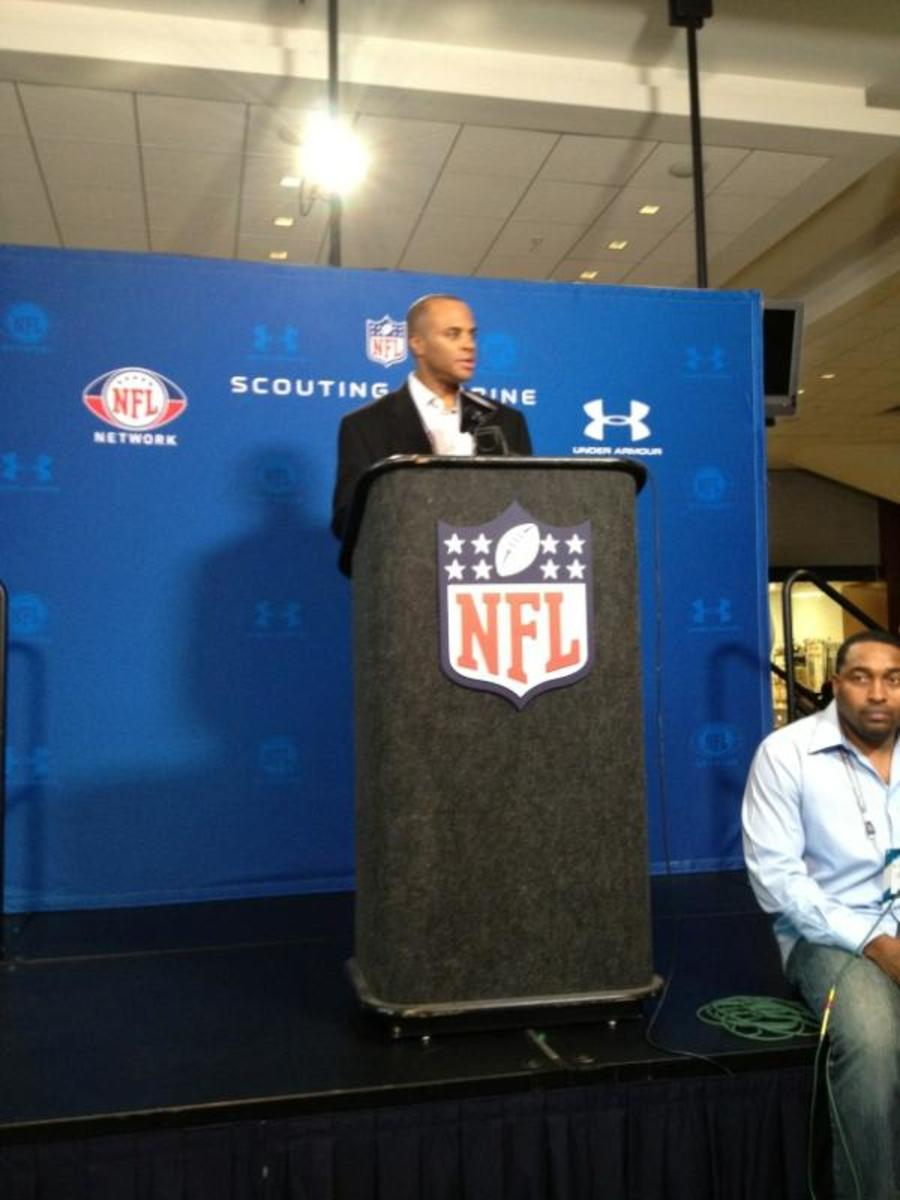 Rick Smith at the NFL Combine
