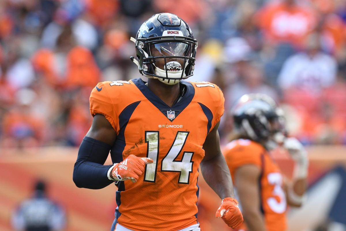 Denver Broncos wide receiver Courtland Sutton (14) during the third quarter at Broncos Stadium at Mile High.