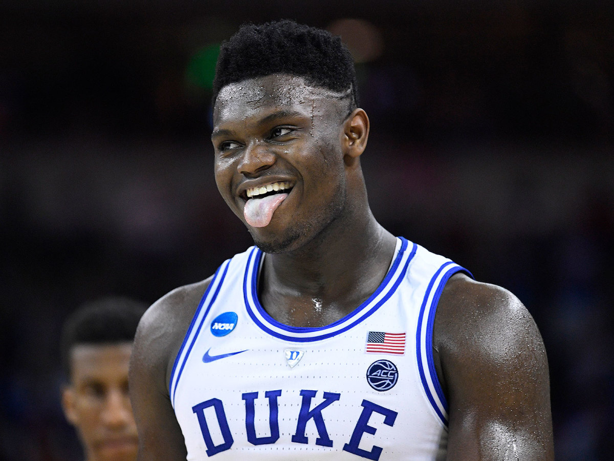 Zion Williamson Duke college basketball career stats