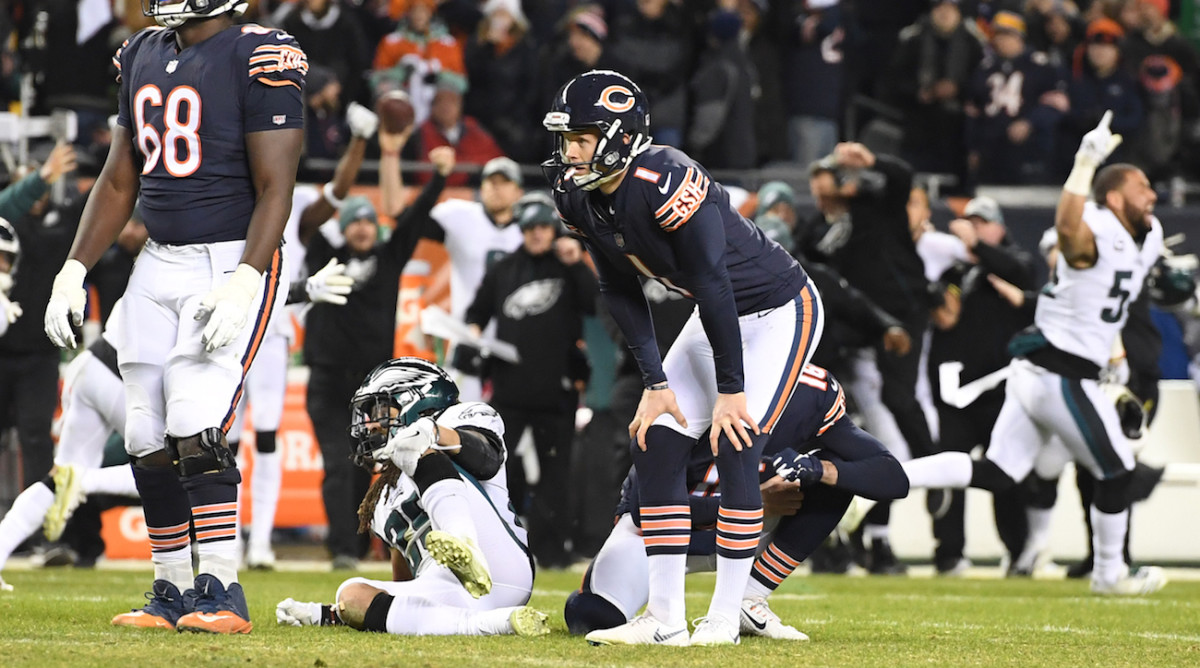 Cody Parkey missed a last-second kick for the Bears in the playoffs.