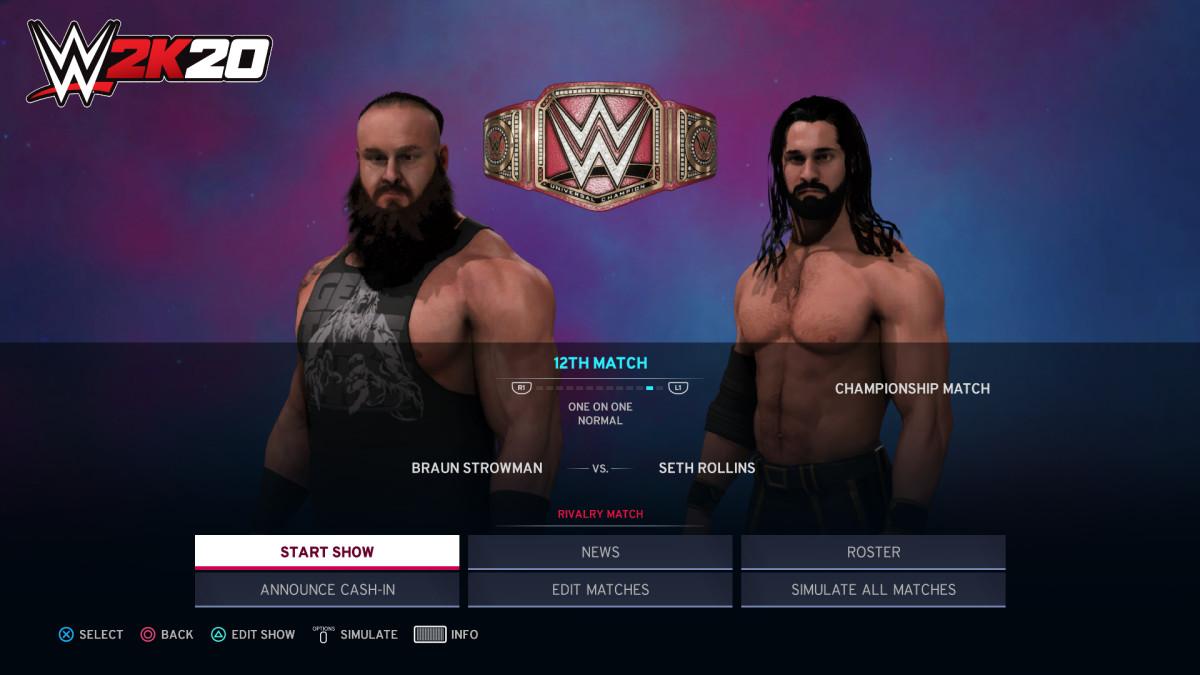 Screenshot from WWE 2K20 video game