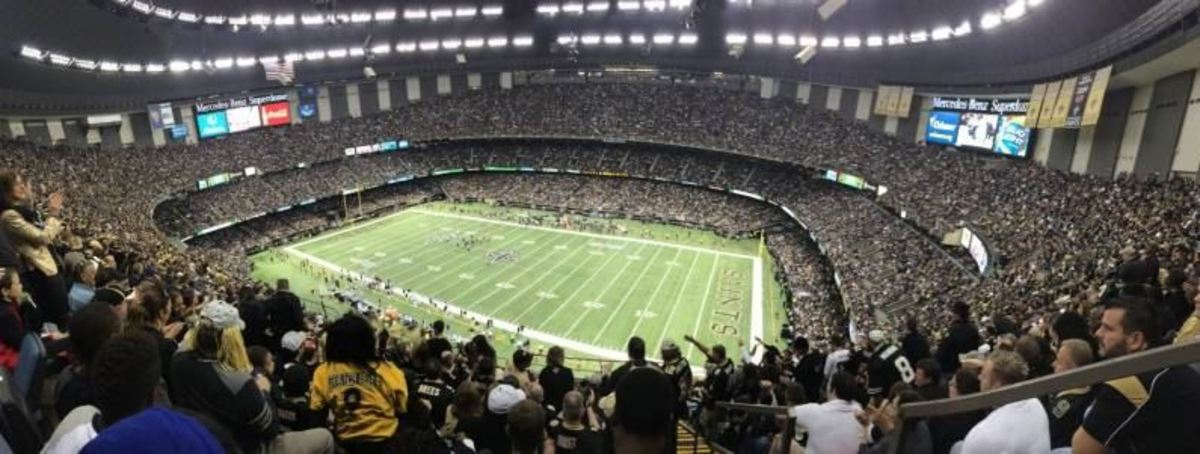 Photo courtesy of the Mercedes-Benz Superdome