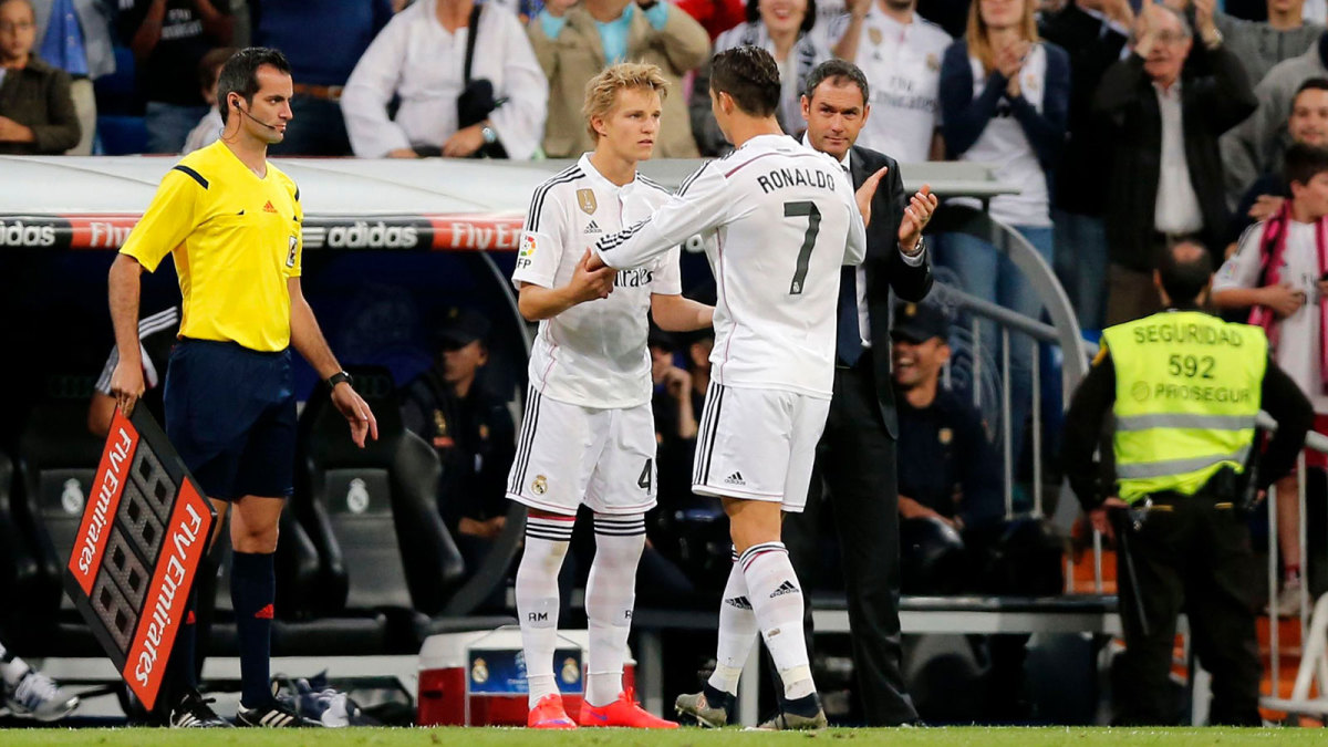 Martin Odegaard moved to Real Madrid as a 16-year-old